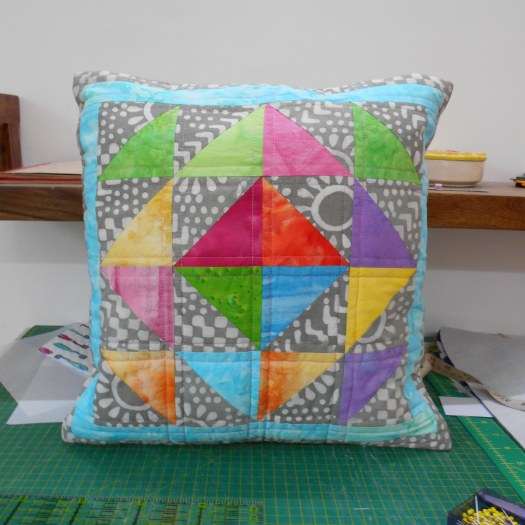 stain glass patchwork cushion cover